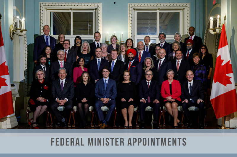 Federal Ministers Appointed in November 2019