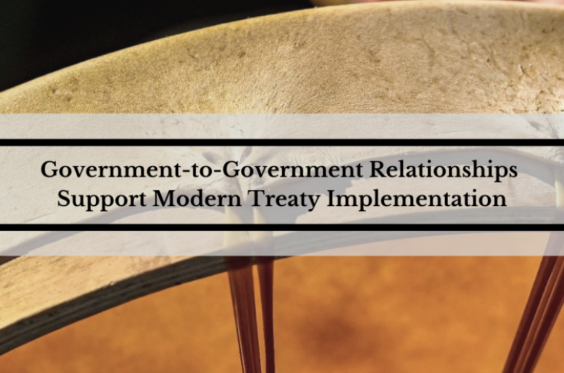 Government-to-Government Relationships Support Modern Treaty Implementation